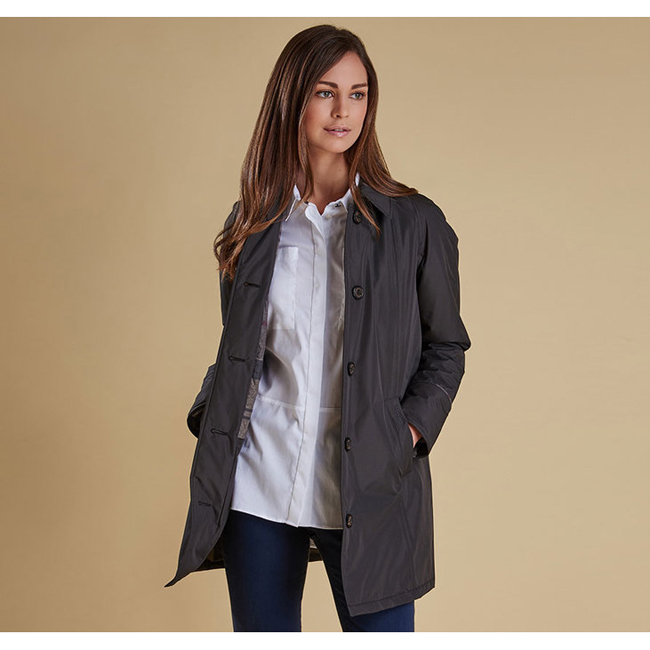 Cheap Barbour Women Ash Grey / Winter Tartan STRAITON WATERPROOF JACKET Online