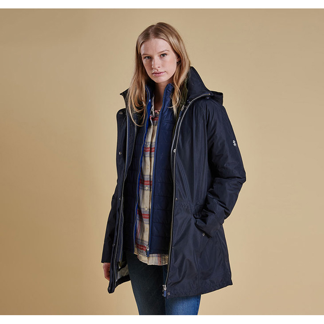 Barbour WINTER TREVOSE WATERPROOF BREATHABLE JACKET Women Neavy / Beacon Outlet Store