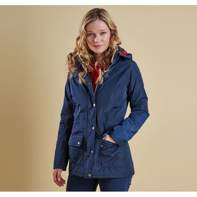 Cheap BARBOUR ASPLEY WATERPROOF JACKET Navy Sale