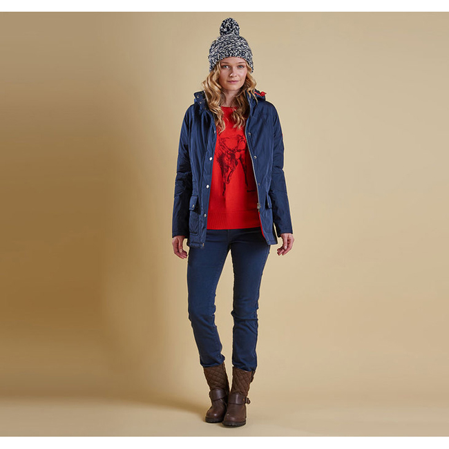 Cheap Barbour Women Navy ASPLEY WATERPROOF JACKET Online