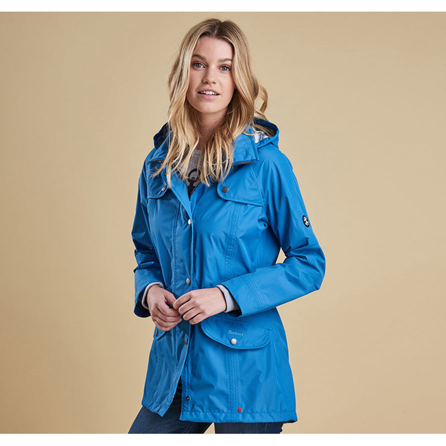 Barbour WATERPROOF TREVOSE JACKET Women Beachcomber Blue Outlet Store