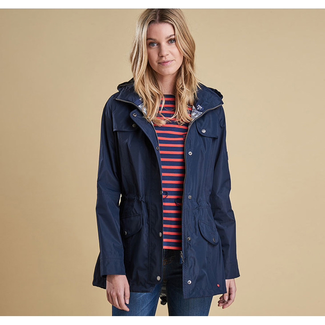 Cheap Barbour Women Navy WATERPROOF TREVOSE JACKET Online