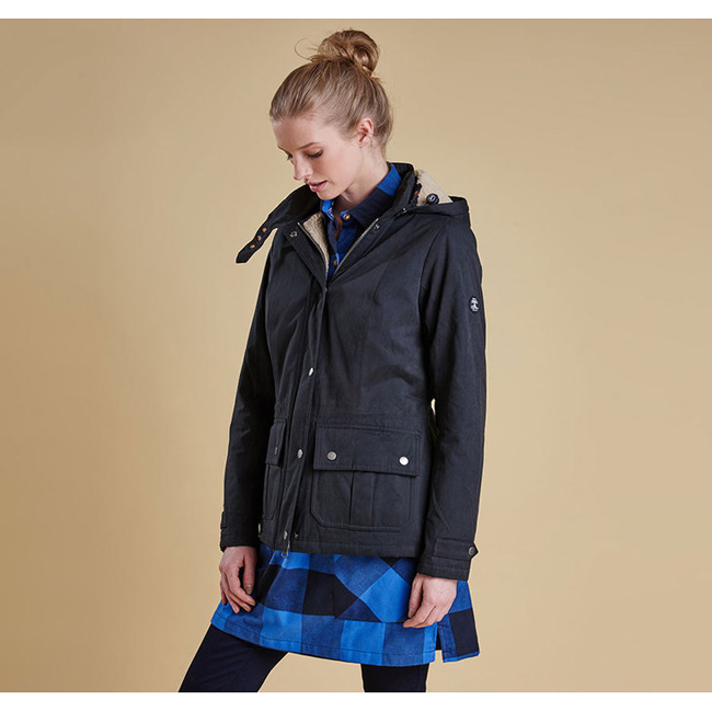Cheap Barbour Women Navy / Natural  CONVEY WATERPROOF BREATHABLE JACKET Online