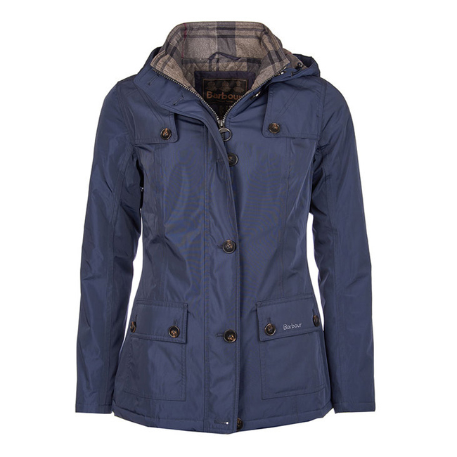 Cheap BARBOUR OLDANY WATERPROOF JACKET Navy / Navy Winter Tartan Sale