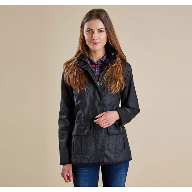 Cheap BARBOUR LADIES UTILITY WAX JACKET Black Sale