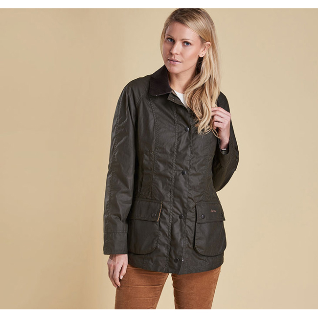 Cheap Barbour Women Olive  CLASSIC BEADNELL WAX JACKET Online