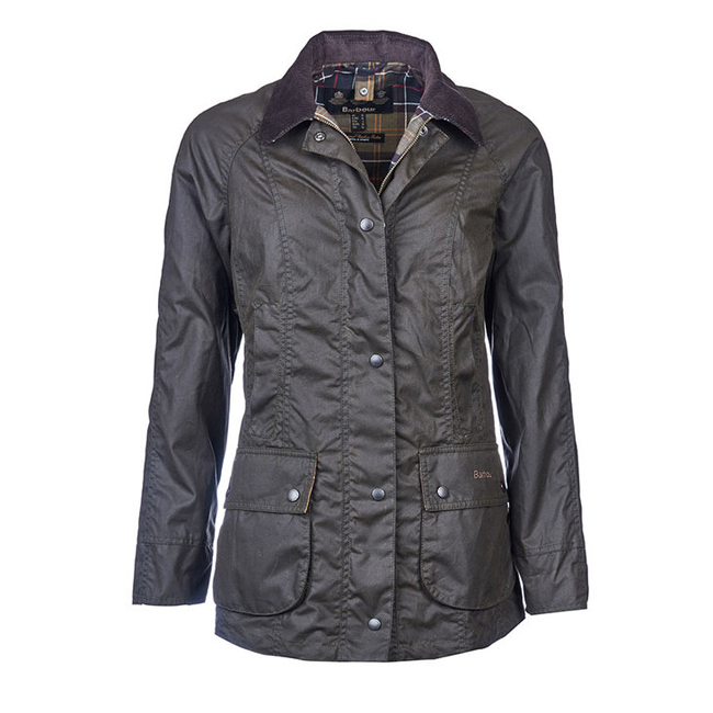 Barbour CLASSIC BEADNELL WAX JACKET Women Olive  Outlet Store