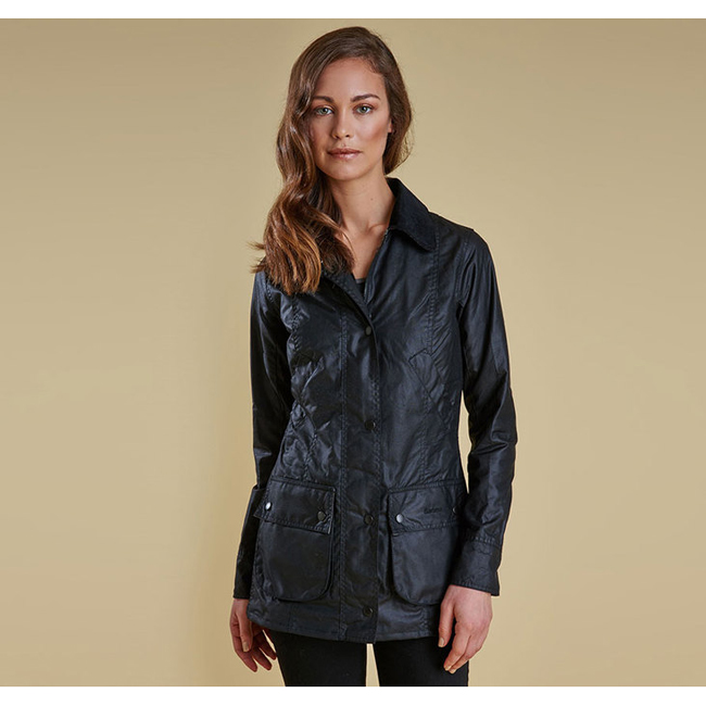 Cheap Barbour Women Black STRAITON WAX JACKET Online