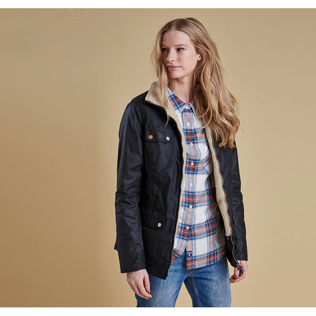Barbour HOWMAN WAX JACKET Women Navy Outlet Store