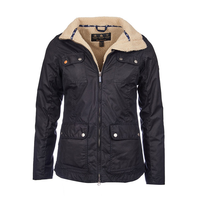 Cheap Barbour Women Navy HOWMAN WAX JACKET Online