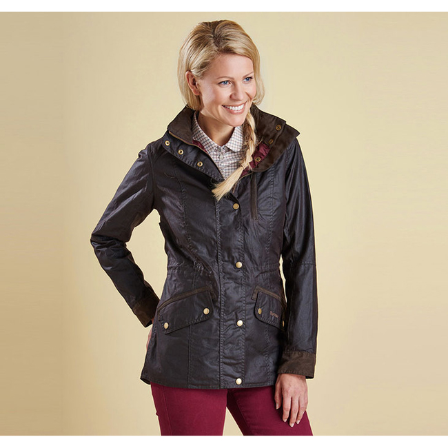 Barbour BADMINTON WAX JACKET Women Rustic Outlet Store