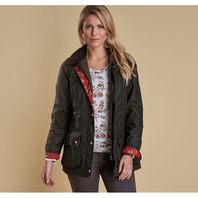 Barbour CATHERINE WAX JACKET Women Olive  Outlet Store