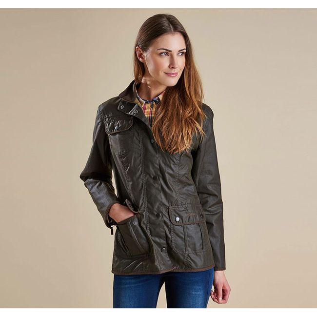 Cheap Barbour Women Olive LADIES UTILITY WAX JACKET Online