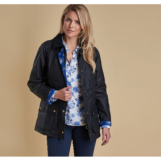 Barbour CATHERINE WAX JACKET Women Navy Outlet Store