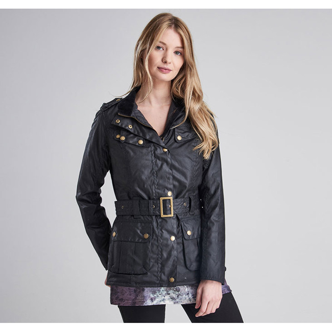 Cheap Barbour Women Black  B.INTL GOLDWING WAX JACKET Online