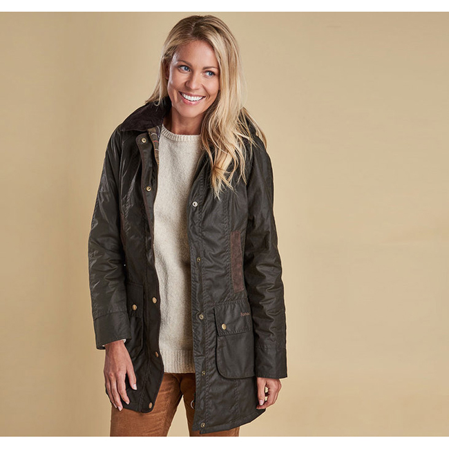 Barbour BOWER WAX JACKET Women Olive Outlet Store