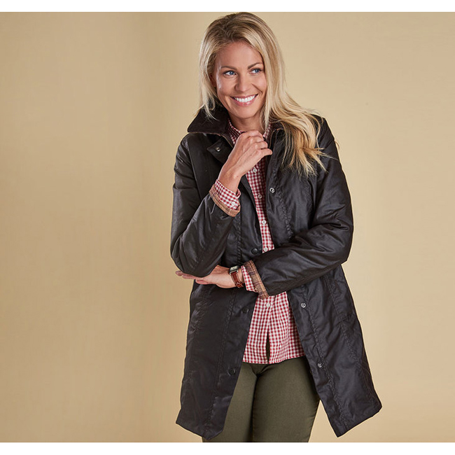 Barbour BELSAY WAX JACKET Women Rustic Outlet Store