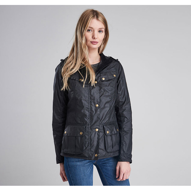 Barbour B.INTL CASTER WAX JACKET Women Black Outlet Store