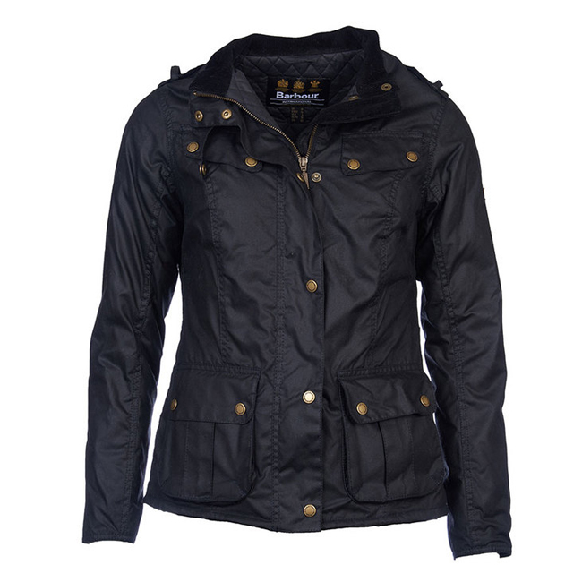Cheap B Intl Caster Wax Jacket Black Sale