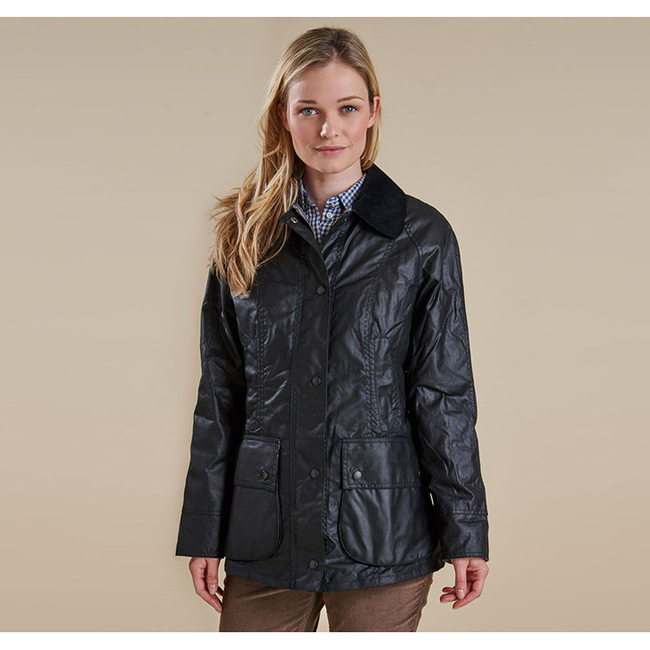 Cheap BARBOUR BEADNELL WAX JACKET Black Sale